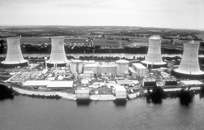 Pogled na elektrarno TMI