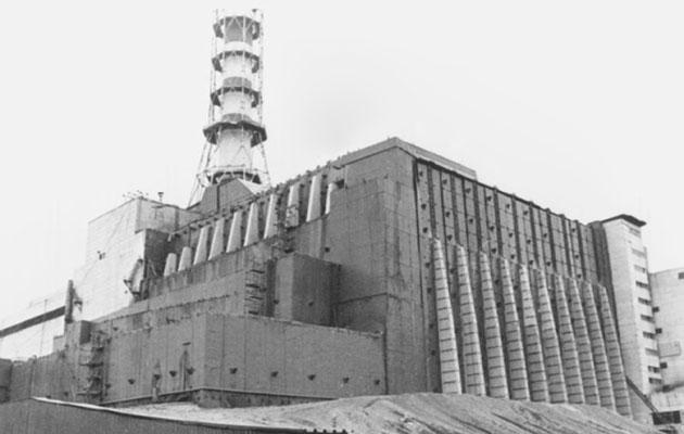 Černobil - sarkofag okrog reaktorske zgradbe