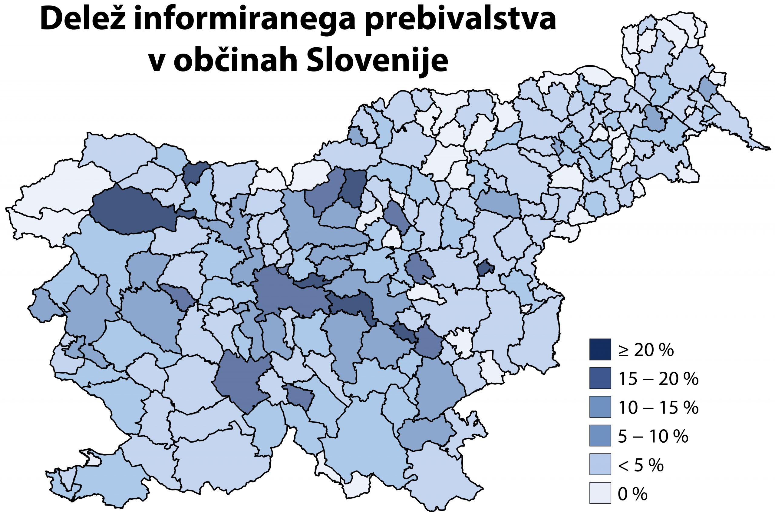 Delež informiranega prebivalstva v občinah Slovenije